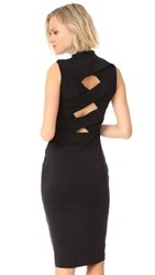 Kendall Kylie Twisted Body Con Dress Black