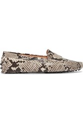 Tod's Gommino Snake Effect Leather Loafers Snake Print