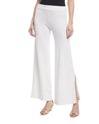 Minnie Rose La Playa Jersey Stretch Pants Plus Size White