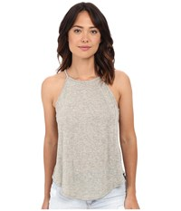 Project Social T Sydney Shirttail Tank Top Ivory Women's Sleeveless White