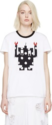Mother Of Pearl White Oversized Appliqua T Shirt