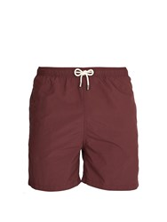 Solid And Striped The Classic Swim Shorts Burgundy