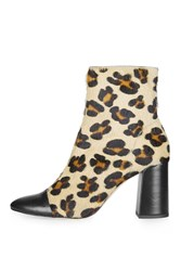 Topshop Happy Days Leopard Ankle Boots True Leopard