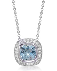 Mini Rosetta Aquamarine And Diamond Pendant Necklace Frederic Sage