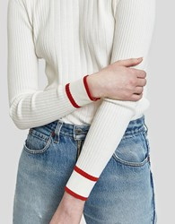 Just Female Ebba Knit In Bright White