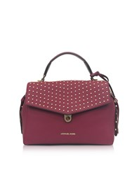 Michael Kors Handbags Bristol Mulberry Studded Leather Top Handle Satchel Bag
