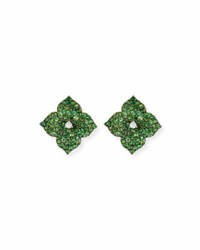 Piranesi Green Tsavorite Flower Earrings