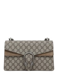 Gucci Small Dionysus Gg Supreme Shoulder Bag Taupe Beige