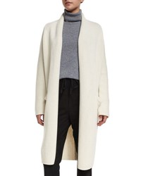 Vince Yak Wool Oversized Open Front Cardigan Winter White