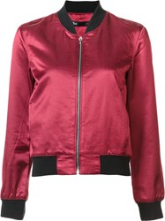 3X1 Zipped Bomber Jacket Red