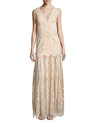 Erin By Erin Fetherston Joanna Sleeveless Lace Gown Champagne Ivory