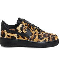 Nike Air Force 1 Lo Pony Hair Leather Trainers Leopard Black Sail