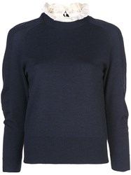 Sea Double Neck Jumper Blue