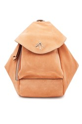 Manu Atelier Micro Fernweh Suede Backpack Camel