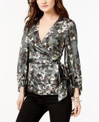 Inc International Concepts Faux Wrap Top Created For Macy's Olive