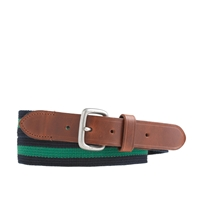 J.Crew Stripe Web Belt Navy Green
