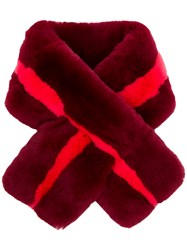 P.A.R.O.S.H. Rabbit Fur Collar Red