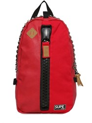 Supe Design Studded Faux Leather Day Backpack