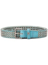 Htc Los Angeles Studded Buckle Belt Blue