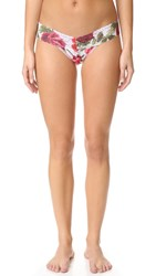 Hanky Panky Rose Red Low Rise Thong Red White