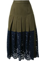Sea Lace Combo Skirt Green
