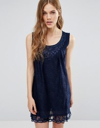Jasmine Lace Shift Dress Navy