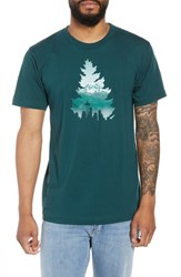 Casual Industrees Johnny Tree Rainier Graphic T Shirt Forest Green