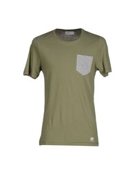 Pantone Topwear T Shirts Men Military Green