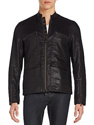 John Varvatos Zip Moto Jacket Black