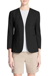 Women's Theory 'Lindrayia' Linen Blend Blazer Black
