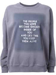 Each X Other Studded Quote Sweatshirt Grey
