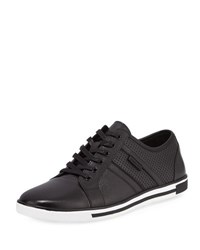 Kenneth Cole Initially Perforated Leather Sneaker Black