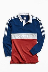 Adidas Nautical Rugby Shirt Maroon