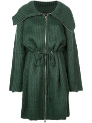 Emporio Armani Knitted Coat Green