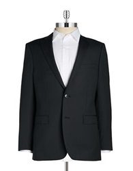 Black Brown Jack Slim Pinstripe Blazer Navy Stripe