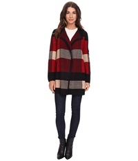 Pendleton Plaid Cardi Black Multi Women's Sweater