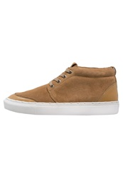 Eleven Paris Chuky Hightop Trainers Camel