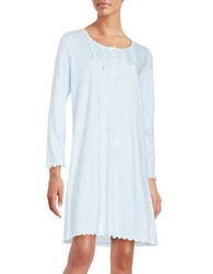 Miss Elaine Polka Dot Nightgown Blue