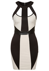 Lipsy Cocktail Dress Party Dress Black Nude Multicoloured