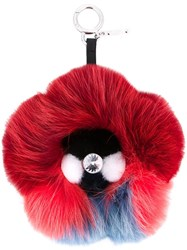 Fendi Flowerland Fox Fur Charm Multicolour