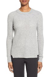 Women's White Warren Thermal Knit Crewneck Cashmere Sweater