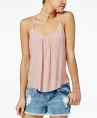Roxy Juniors' Fly With Me Strappy Crisscross Tank Top Medium Pink