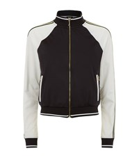 Juicy Couture Tricot Stripe Bomber Jacket Female Black