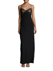 La Perla Stolen Roses Nightgown Black