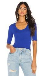 Free People Up All Night Top In Blue.