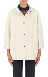 Opening Ceremony Women's Culver Reversible Coat Silver