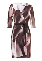Vera Mont Wrap Dress With Waist Tie Multi Coloured