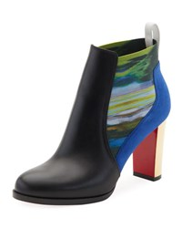 Christian Louboutin Marchapp Leather Red Sole Ankle Boot Black