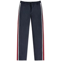 Valentino Technical Taped Wool Trouser Blue