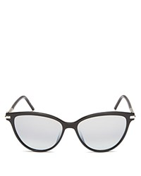 Marc Jacobs Mirrored Cat Eye Sunglasses 53Mm Black Shaded Mirror Lens